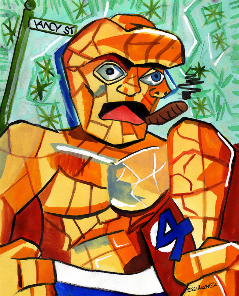 In the Style of Picasso, but not referencing a specific piece. This was an early commission, the client and I agreed that Ben Grimm was sort of cubist.....