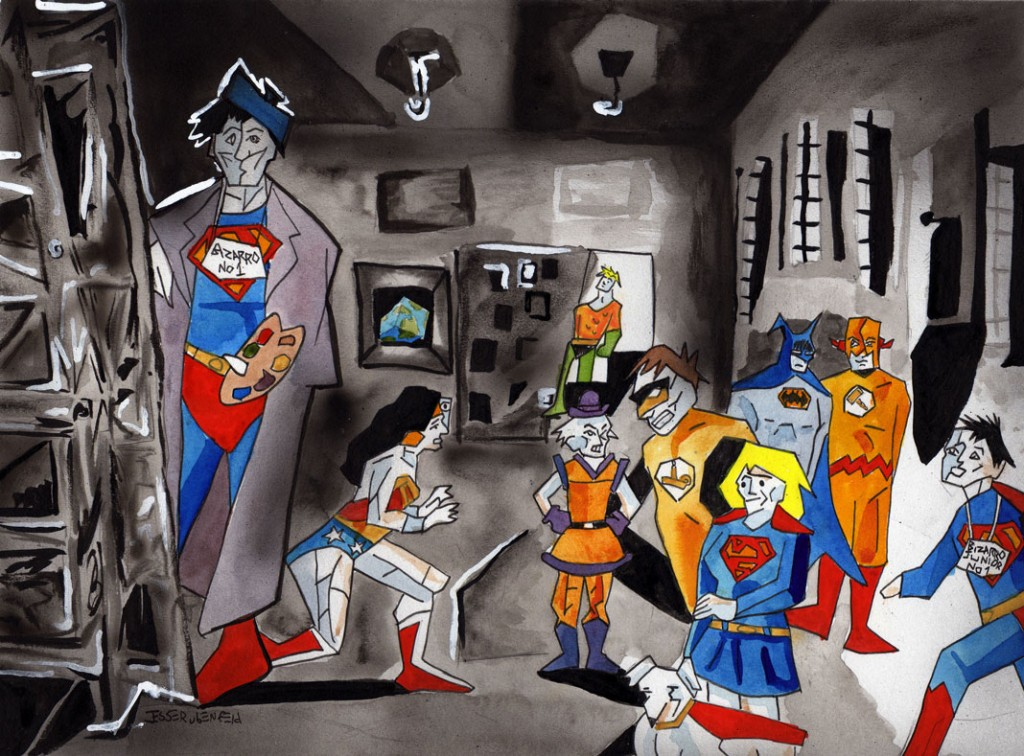 "The bizarro version of ""Earth"" My Las Meninas parody, which is s version of Picasso's Parody of Velasquez's work."