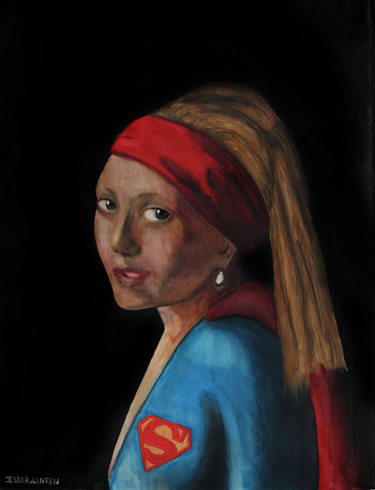 Supergirl With The Pearl Earring