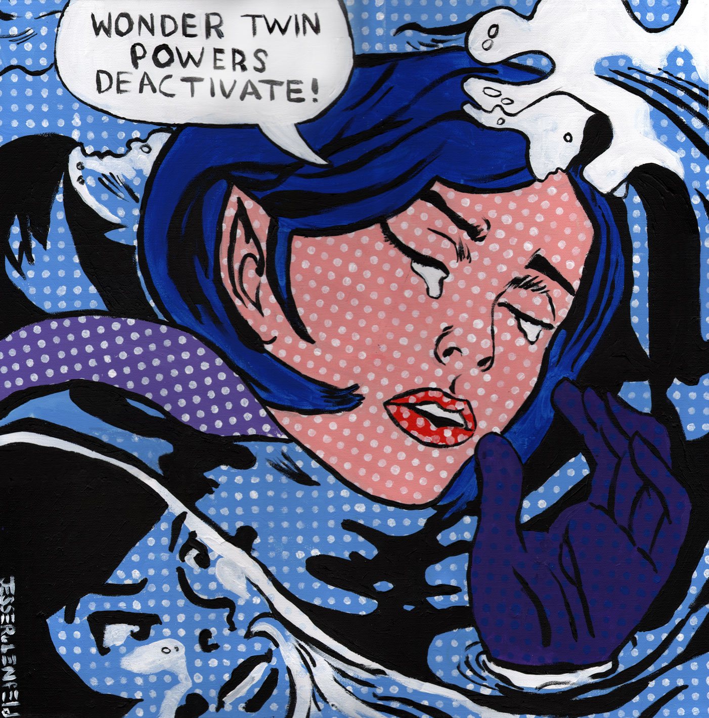 lichtenstein drowning girl Reproduction of roy lichtenstein's drowning girl (1963) billboard.