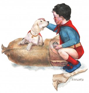 "Based on ""Boy Meets his Dog"" Part of one of Norman Rockwell's Four Seasons calendars."