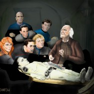 All of the Doctors from the Star Trek TV shows! And Wesley Crusher, and most of Data. My First full digital painting.