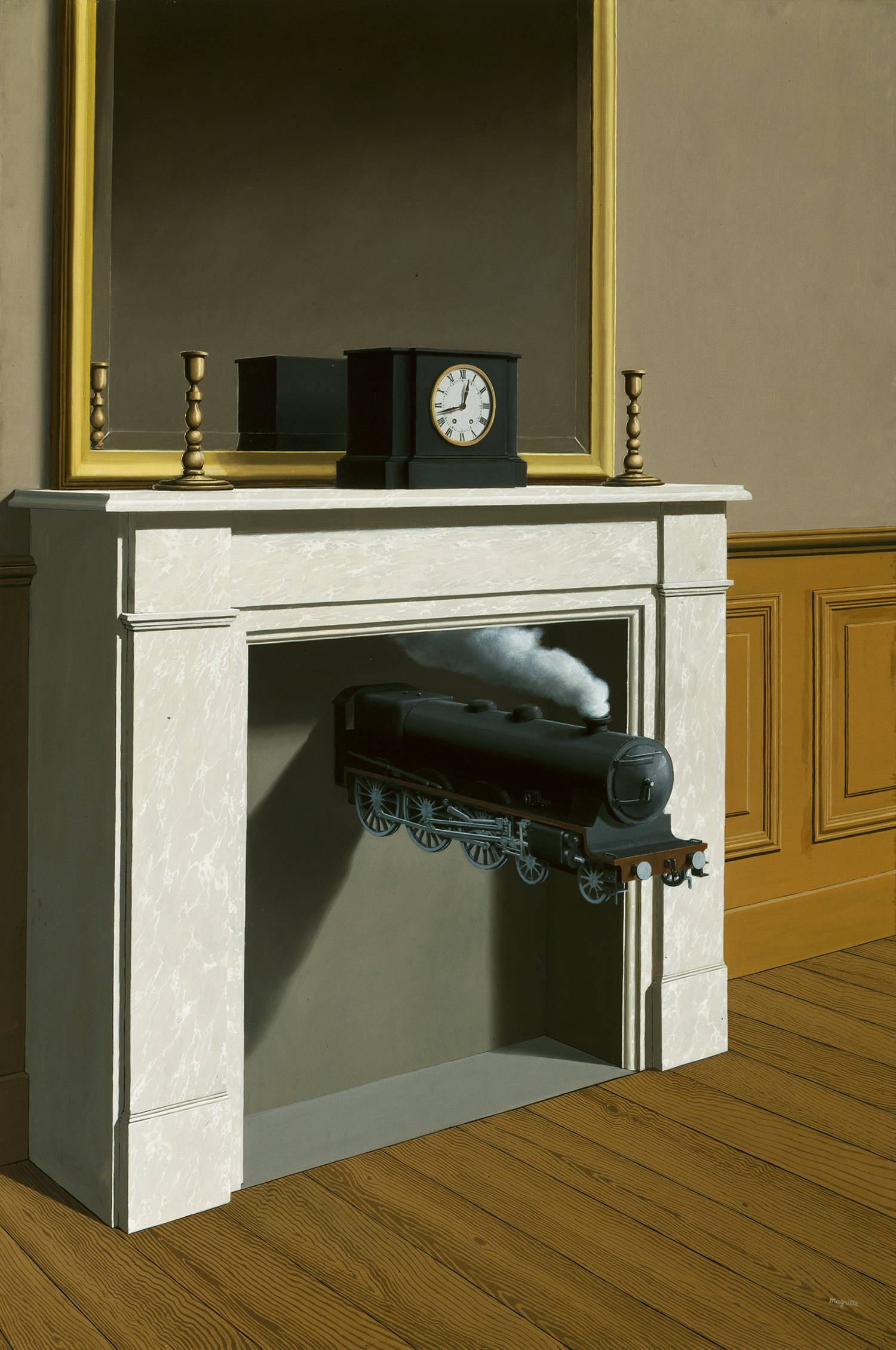 Rene Magritte - Time Transfixed 1938