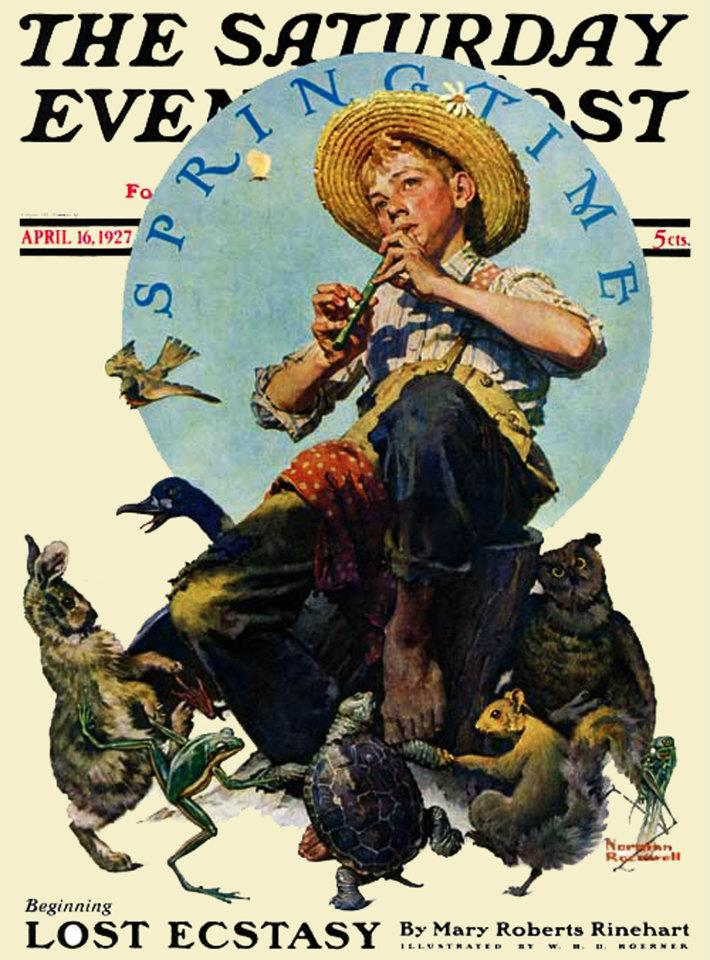 Norman Rockwell's cover for Saturday Evening Post from April 16th, 1927. PLEASE NOTE: I am in no way affiliated with Saturday Evening Post or it's publisher Curtis Publishing.