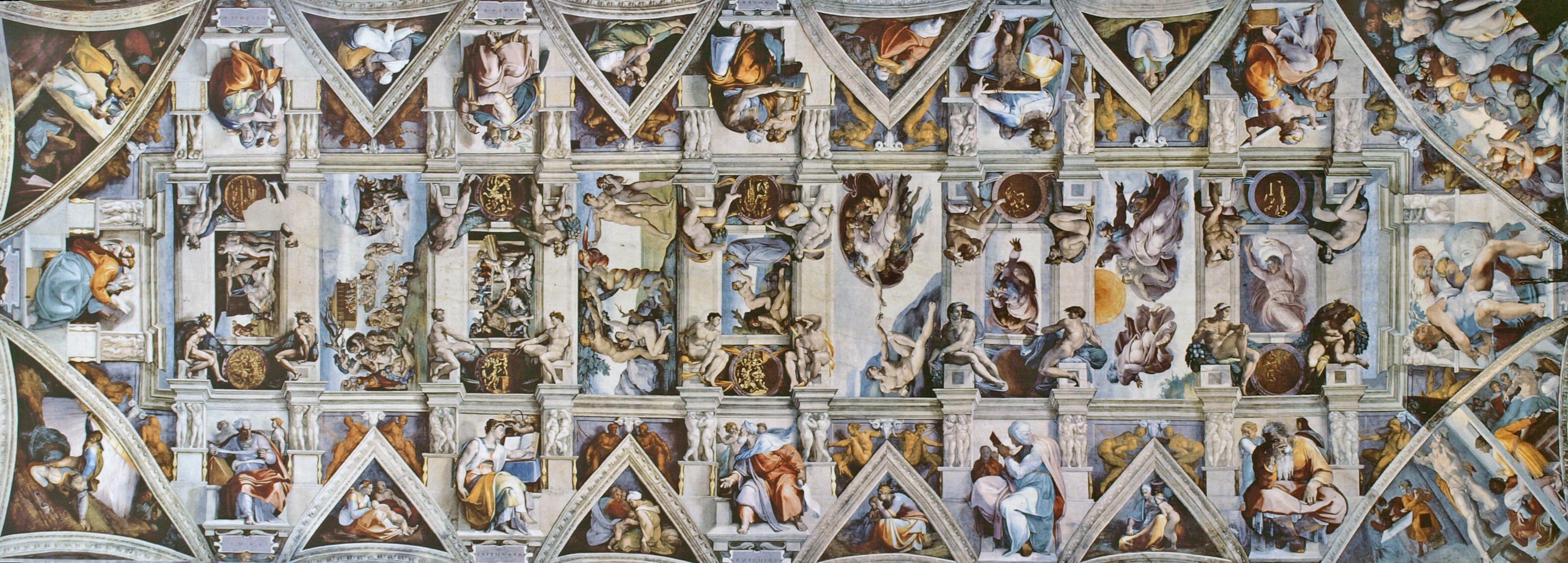 Sistine Chapel Office Ceiling Jesse Rubenfeld Illustrations