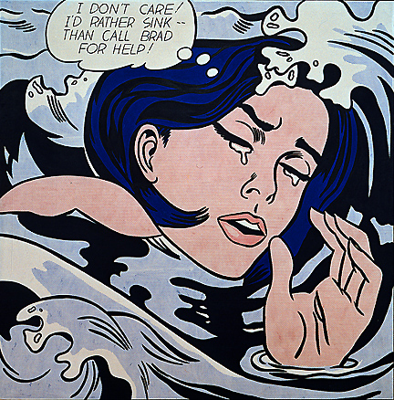 Roy Lichtenstein - Drowning Girl A reinterpretation of a comic panel