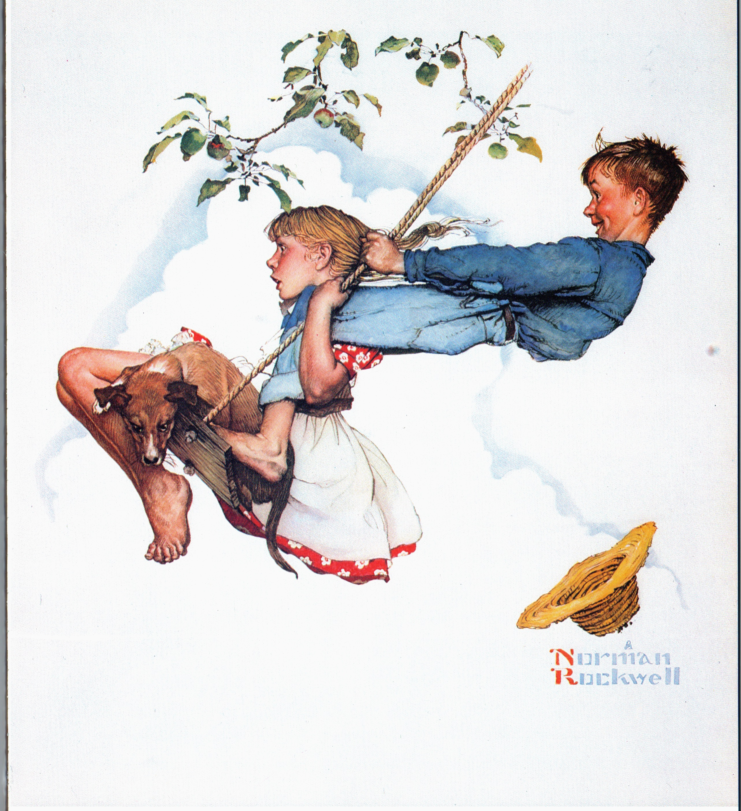 Based on this Norman Rockwell Four Seasons calendar painting.