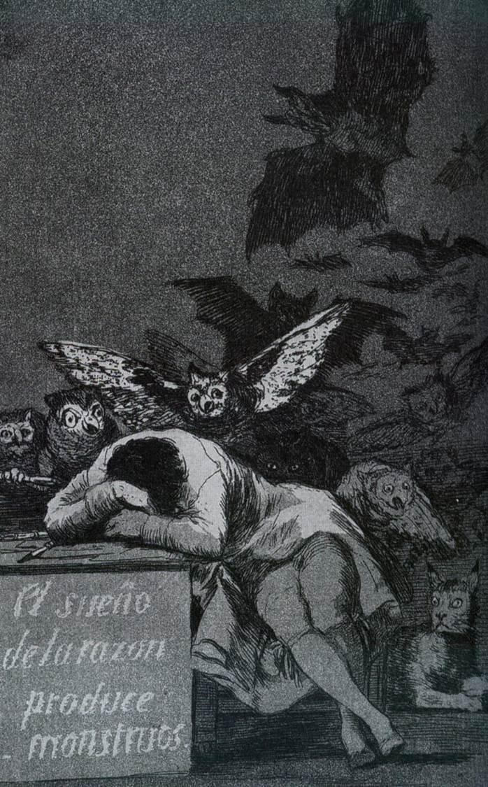Francisco Goya - The Sleep of Reason Produces Monsters