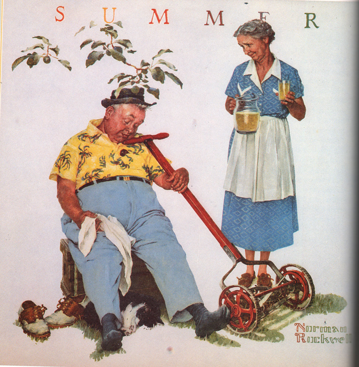 Based on a Four Seasons calendar painting by Norman Rockwell.