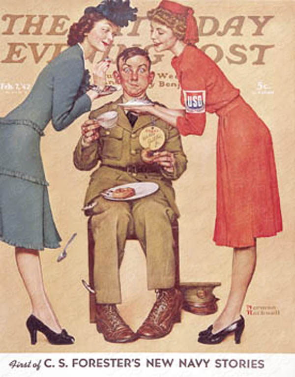 Norman Rockwell's cover to Saturday Evening Post from February 7th, 1942. PLEASE NOTE: I am in no way affiliated with Saturday Evening Post nor it's publisher Curtis Publishing.