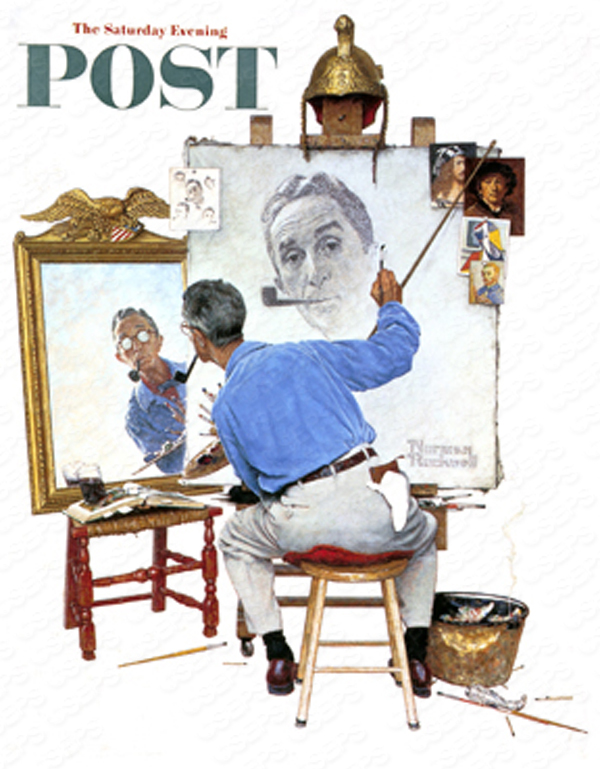 Based on Norman Rockwell's Saturday Evening Post cover from February 13th 1963. PLEASE NOTE: I am in no way affiliated with Saturday Evening Post, or their publisher Curtis Publishing.