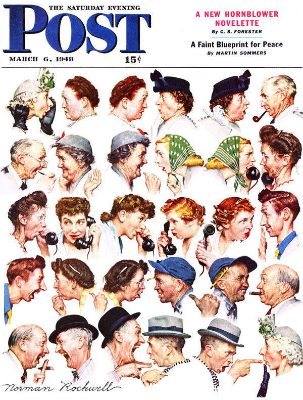 Based on Norman Rockwell's cover for Saturday Evening Post from March 6th, 1948. PLEASE NOTE: I am in no way affiliated with Saturday Evening Post, or their publisher Curtis Publishing.