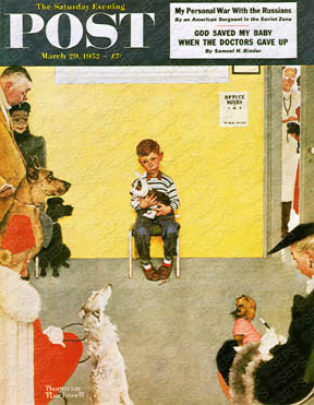 Based on Norman Rockwell's cover for Saturday Evening Post from March 29th, 1952.  PLEASE NOTE: I am in no way affiliated with Saturday Evening Post or their publisher Curtis Publishing.