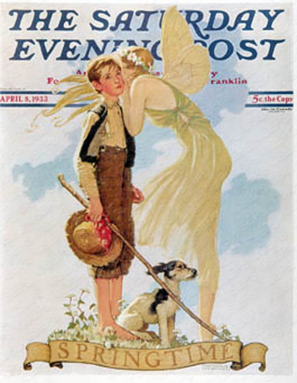 Norman Rockwell's cover for Saturday Evening Post from April 6th, 1933. PLEASE NOTE: I am in no way affiliated with Saturday Evening Post or its publisher Curtis Publishing.