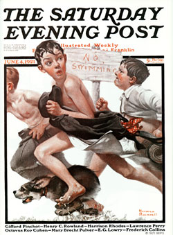 Based on Norman Rockwell's Saturday Evening Post cover from June 4th, 1921. PLEASE NOTE: I am in no way affiliated with Saturday Evening Post or their publisher Curtis Publishing.