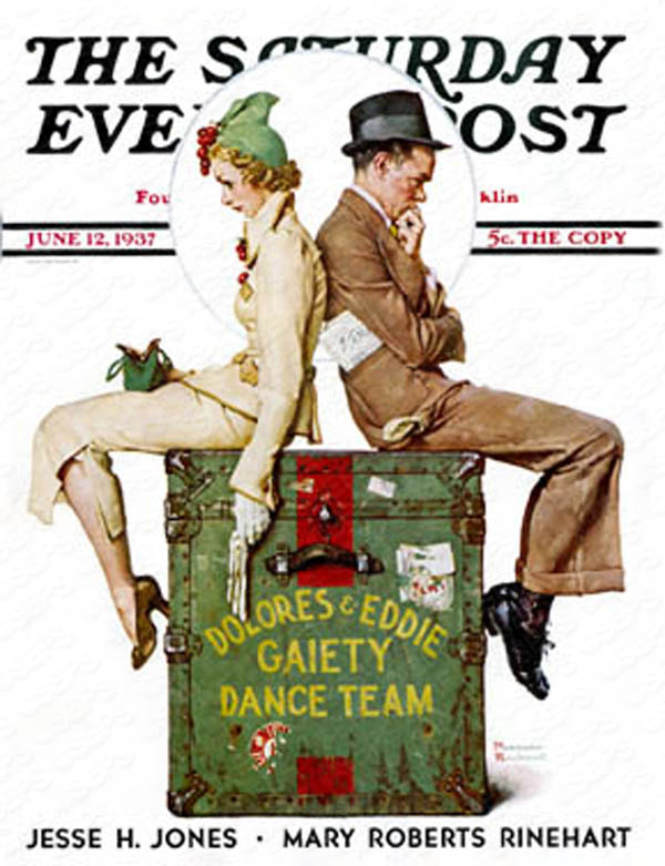 Norman Rockwell's cover for Saturday Evening Post from June 12th, 1937. PLEASE NOTE: I am in no way affiliated with Saturday Evening Post or it's publisher Curtis Publishing.