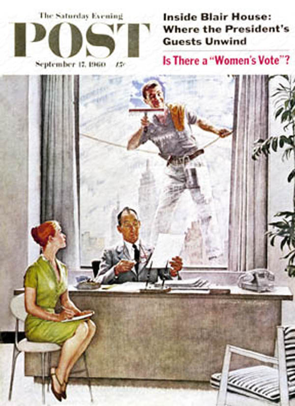 Based on Norman Rockwell's cover for Saturday Evening Post from September 17th, 1960. PLEASE NOTE: I am in no way affiliated with Saturday Evening Post or their publisher Curtis Publishing.