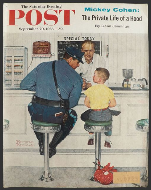 Based on Norman Rockwell's Saturday Evening Post cover from September 20th, 1958. PLEASE NOTE: I am in no way affiliated with Saturday Evening Post, or their publisher Curtis Publishing