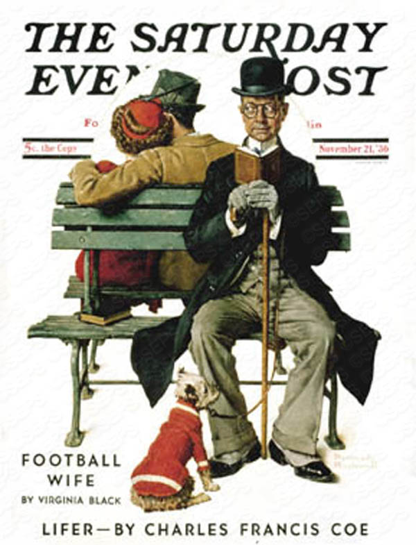 Based on Norman Rockwell's cover for Saturday Evening Post from November 21st, 1936. PLEASE NOTE: I am in no way affiliated with Saturday Evening Post or it's publisher Curtis Publishing.
